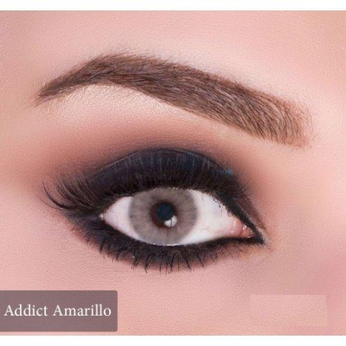 Anesthesia Addict Amarillo Contact Lenses, Solution Free