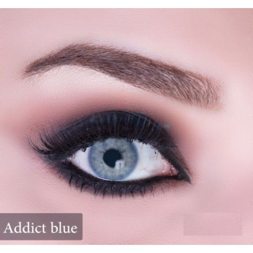 Anesthesia Addict Blue Contact Lenses, Solution Free