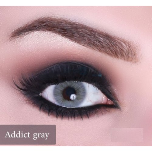 Anesthesia Addict Gray Contact Lenses, Solution Free