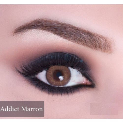 Anesthesia Addict Marron Contact Lenses, Solution Free 1