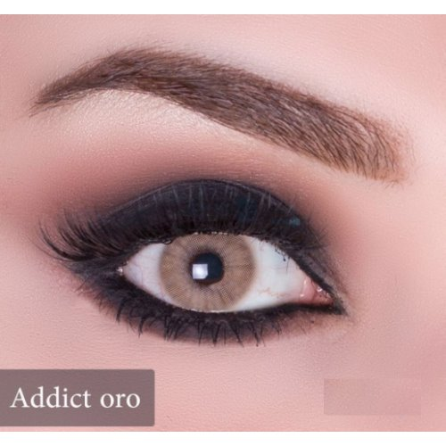 Anesthesia Addict Oro (Gold) Contact Lenses, Solution Free
