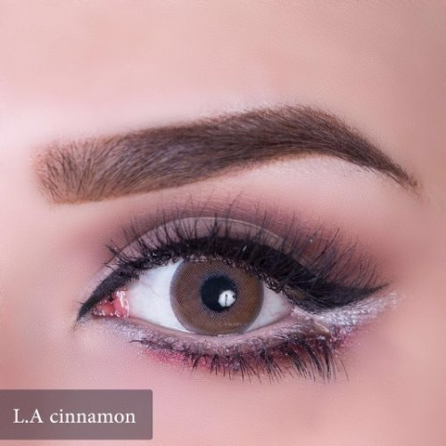 Anesthesia USA L.A Cinnamon Contact Lenses, Solution Free