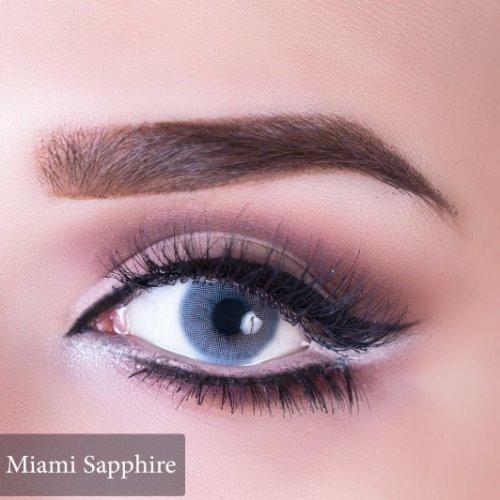 Anesthesia USA Miami Sapphire Contact Lenses, Solution Free