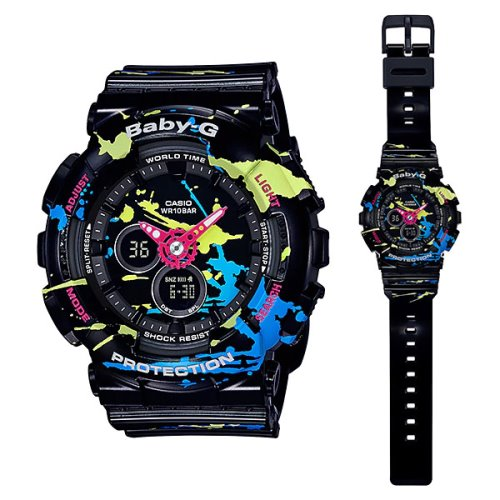 c8d18f13690 Casio Baby-G Splatter Pattern Black Watch - BA-110JM-1A Kuwait ...