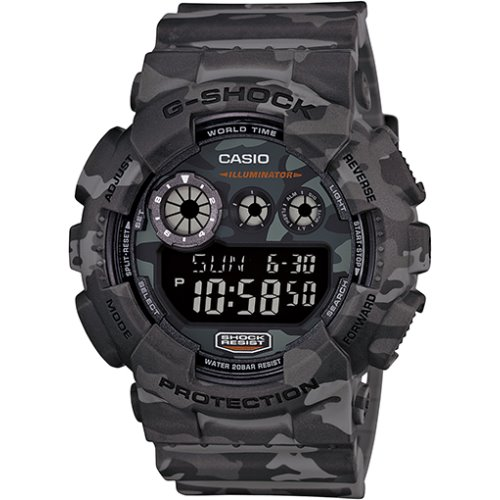 Casio G-Shock Camouflage Army Digital Grey Watch - GD-120CM-8
