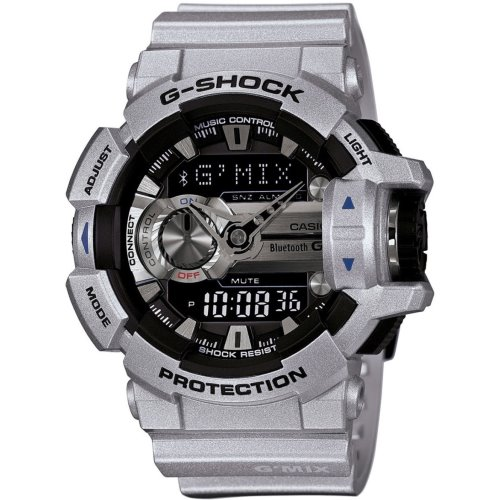 finest selection 4ab33 dabe6 Casio G-Shock G-Mix Bleutooth Smart Silver Watch - GBA-400-8B