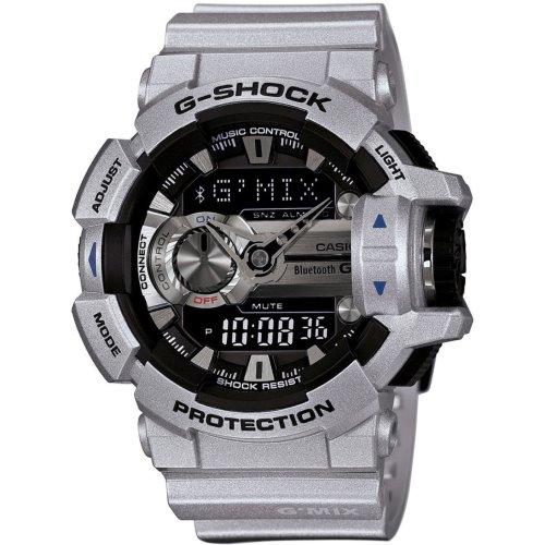 Casio G-Shock G-Mix Bleutooth Smart Silver Watch - GBA-400-8B