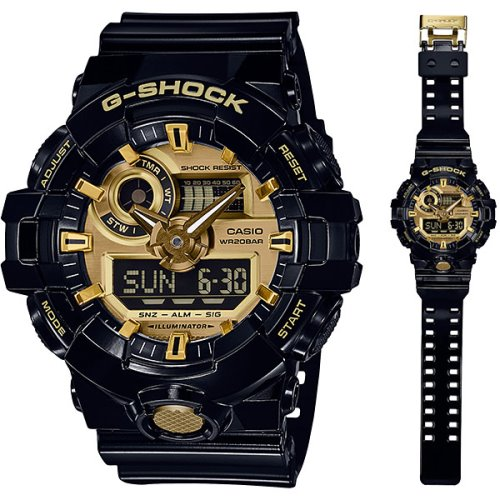 3e6c63c6b01e Casio G-Shock Standard Analog-Digital Black Garish Watch - GA-710GB ...