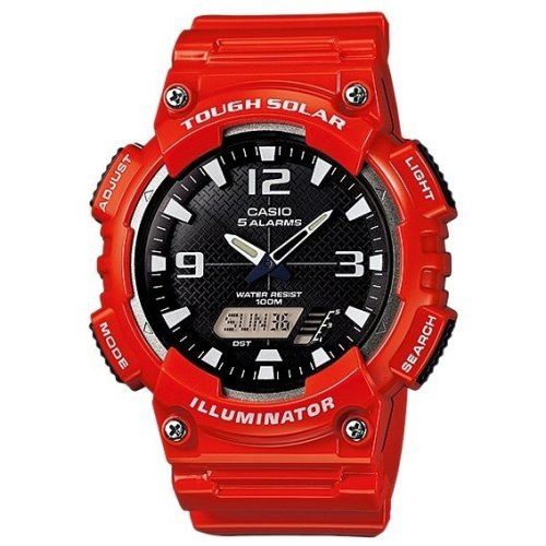 Casio Standard Solar Powered Watch Red - AQ-S810WC-4AV