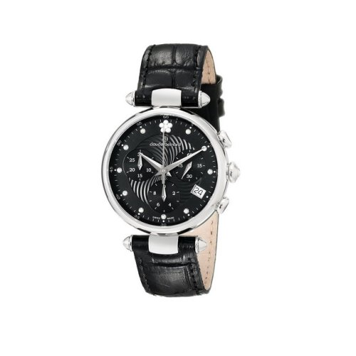 Claude Bernard Swiss Women's Black Dress Chrnograph Watch, 10215 3 NPN2