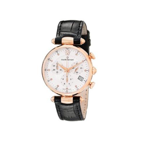 Claude Bernard Swiss Women's Black Dress Chrnograph Watch, 10215 37R APR2