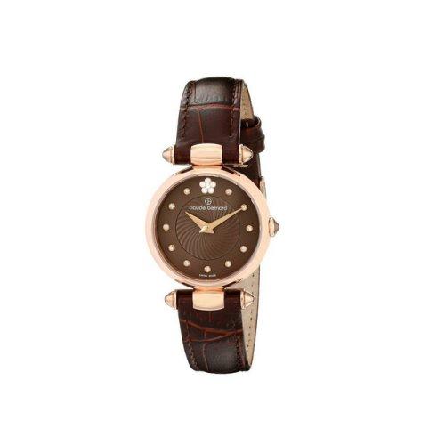 Claude Bernard Swiss Women's Brown Dress Watch, Swarovski Crystals, 20501 37R BRPR2