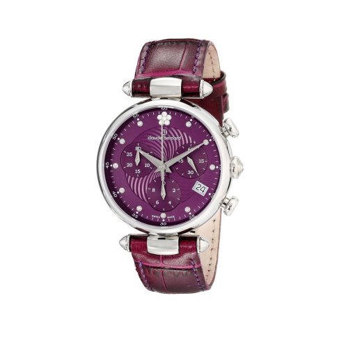 Claude Bernard Swiss Women's Purple Dress Chrnograph Watch, 10215 3 VIOP2 1