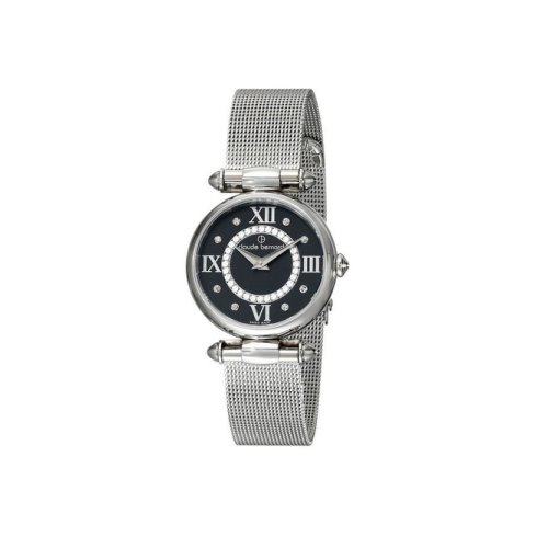 Claude Bernard Swiss Women's Silver Dress Watch, Swarovski Crystal, 20500 3 NPN1