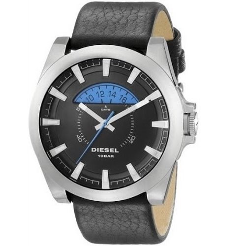 Diesel Arges Black and Blue Dial, Leather Strap for Men, DZ1659