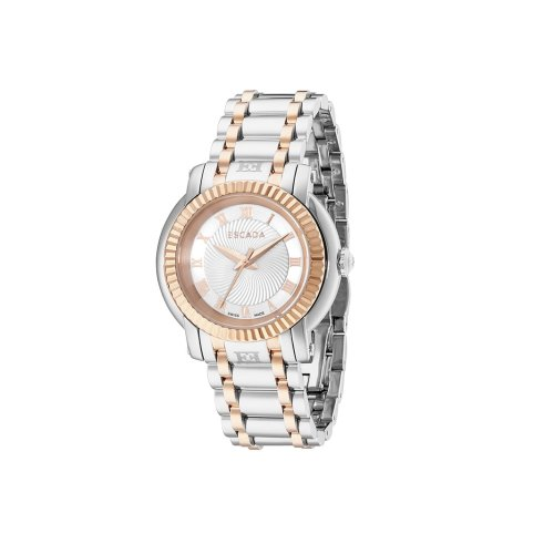 Escada Catherine Rose Gold Plated, Silver Dial Women's Watch, E4335045
