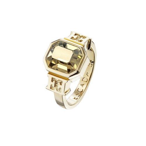Escada Glamorous Feminity Gold Plated With Swarovski Crystal Ring, E67033