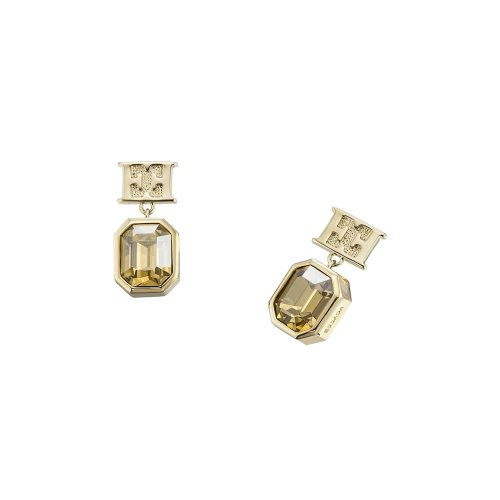 Escada Glamorous Feminity Gold Plated with Swarovski Crystal Earrings, E64095