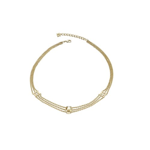 Escada Glamorous Feminity Gold Plated with Swarovski Crystal Necklace, E62123