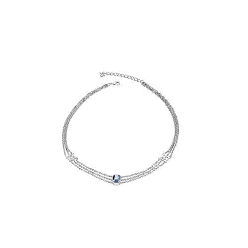 Escada Glamorous Feminity Rhodium Plated with Swarovski Crystal Necklace, E62124