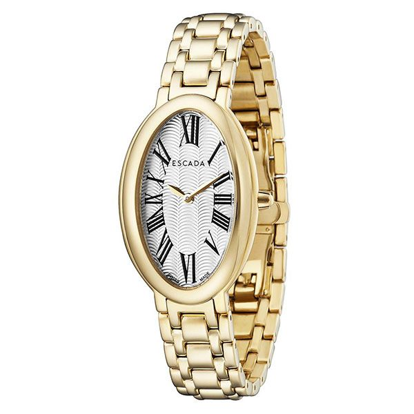 Escada Kyra Women Watch, Roman Oval Dial, Gold Tone, EW4935022
