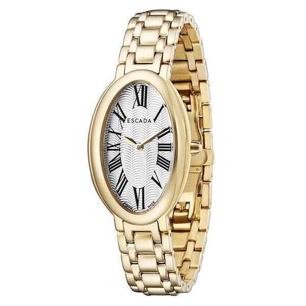 Escada Kyra Women Watch, Roman Oval Dial, Gold Tone, EW4935022