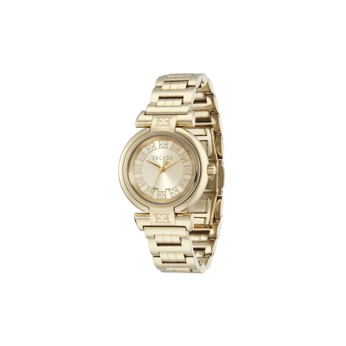 Escada Lauren Jewelry Watch, Champagne Dial, Plated Gold Women's Watch, E2105012