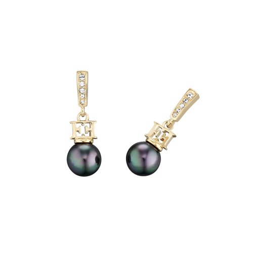 Escada Mysterious Pearls Gold Plated Shell Pearls Earrings, E64055