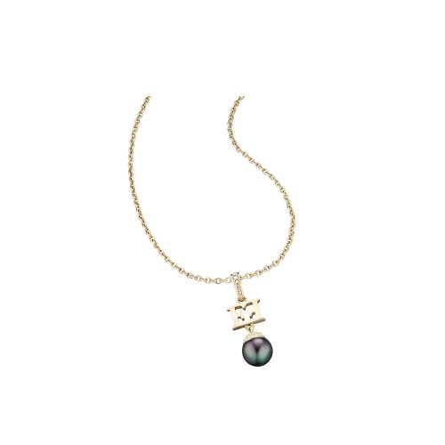 Escada Mysterious Pearls Gold Plated Shell Pearls Necklace, E62091