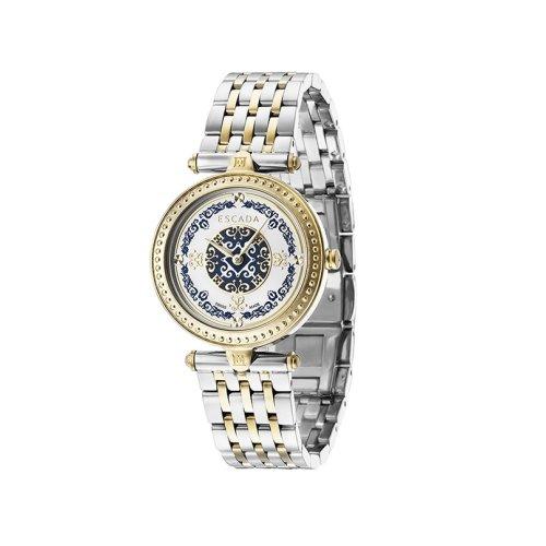 Escada Vanessa Gold Plated, Dual Tone Dial Women's Watch, E3235124