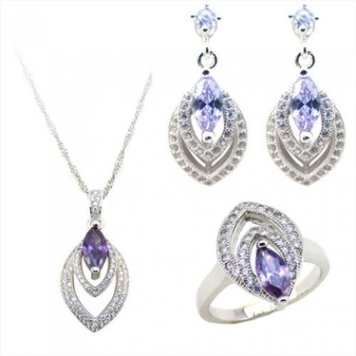 Yemma 925 Sterling Silver, Cubic Zirconia Jewelry Set, 11.28 g, M00999