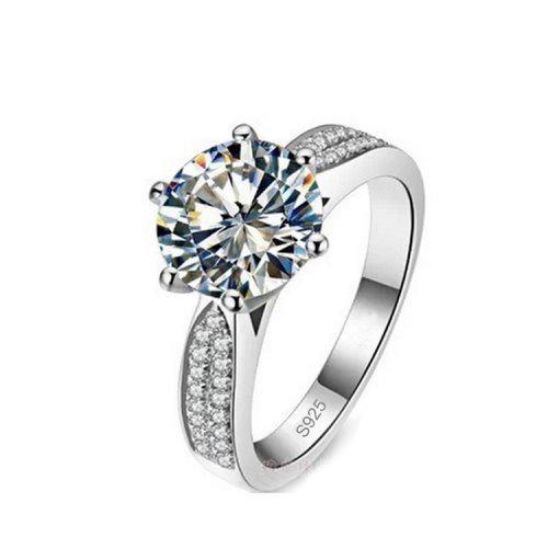 Yemma Pure 925 Sterling Silver 5 Carat CZ Diamonds Wedding Never Fade Ring, M01388