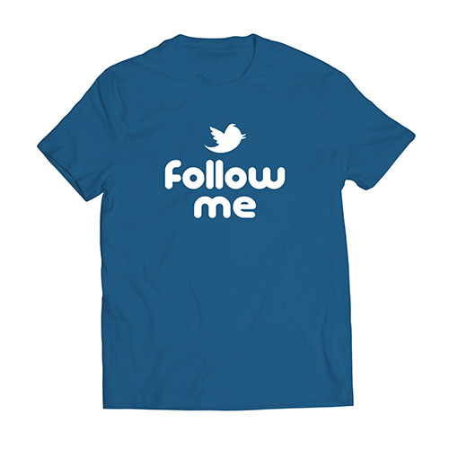 cooclos Follow Me Blue T-shirt Unisex 1