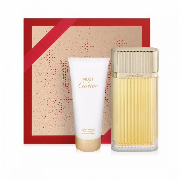Cartier Gold Must EDP Gift Set (100ml EDP, 100ml Body Cream)