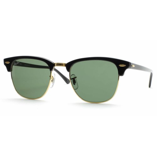 Ray Ban CLUBMASTER Green Lenses, RB3016 W0365, RB3016 W0365