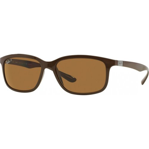 Ray Ban Liteforce Dark Brown, Poly Brown Polarized, RB4215 6127-83