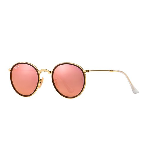 Ray Ban Round Folding, Copper Flash Lenses, RB3517 001-Z2 51-22