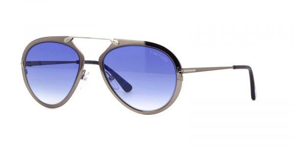 8ab87194019 Tom Ford Dashel Aviator Design Metal Bridgless Frame Sunglasses For ...