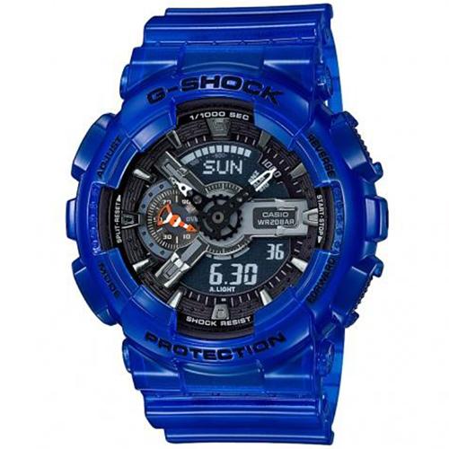 Casio G-Shock AQUA PLANET Translucent Ocean Water Blue – GA-110CR-2A