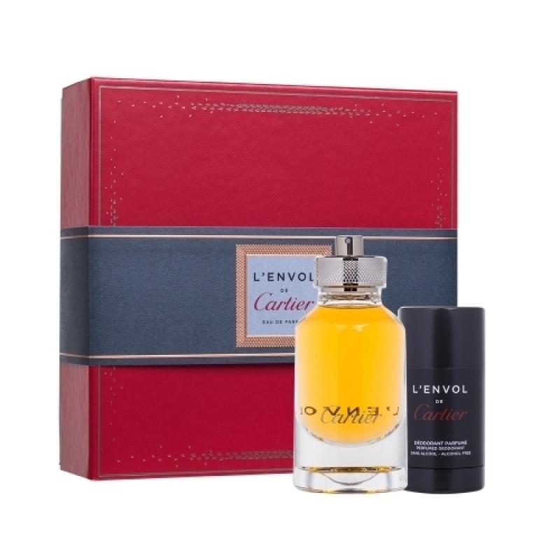 da5210e6e Cartier L'Envol Gift Set for Men (Perfume 80ml and DEODORANT STICK ...