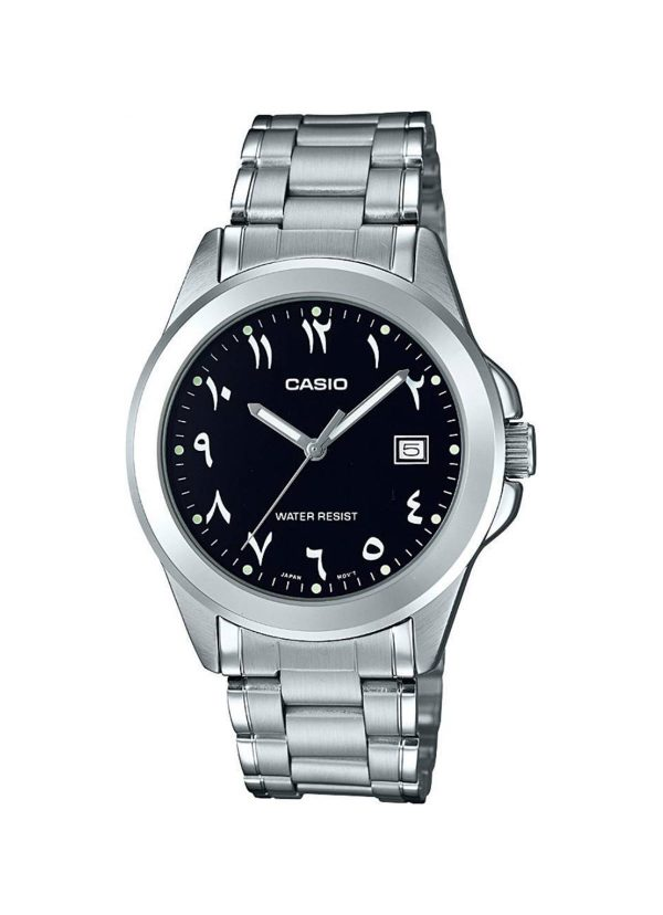 Casio Men's Black Dial Stainless Steel Strap MTP-1215A-1B3DF