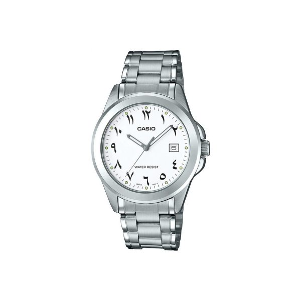 Casio Men's White Dial Stainless Steel Strap MTP-1215A-7B3DF