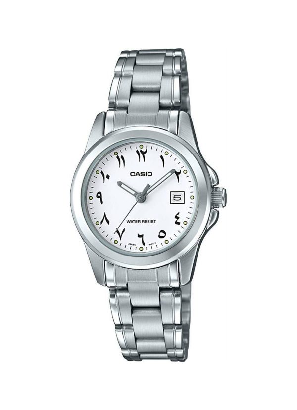 Casio Women's White Dial Stainless Steel Strap LTP-1215A-7B3DF