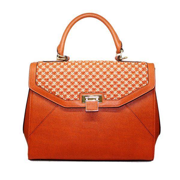 Bonia Orange Satchel Bag 4304412028017