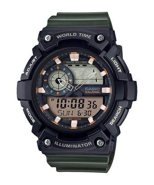 Casio Resin Band Watch AEQ-200W-3AVDF