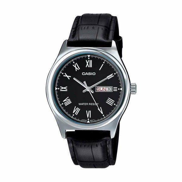 Casio Black Leather Watch LTP-V006L-1BUDF