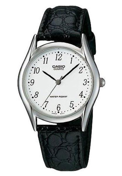 Casio Black Leather Watch MTP-1094E-7BDF