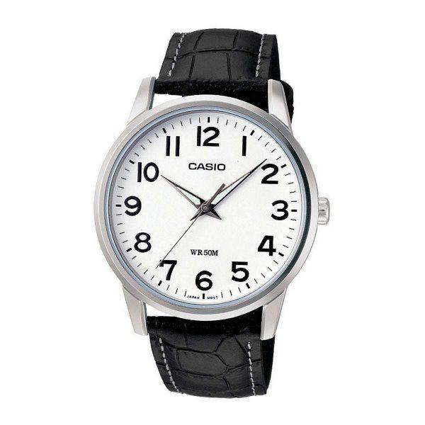 Casio Black Leather Watch MTP-1303L-7BVDF
